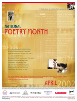 National Poetry Month: April 2002